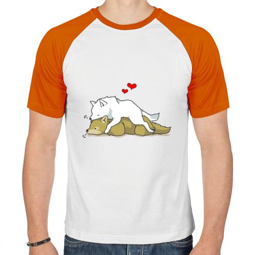 Мужская футболка реглан  Фото 01, Волчья любовь