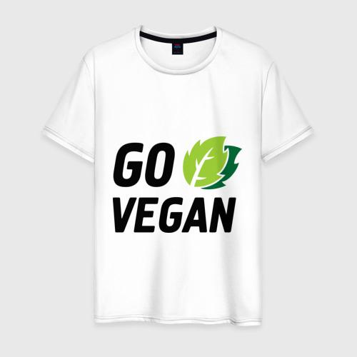 Мужская футболка хлопок Go vegan