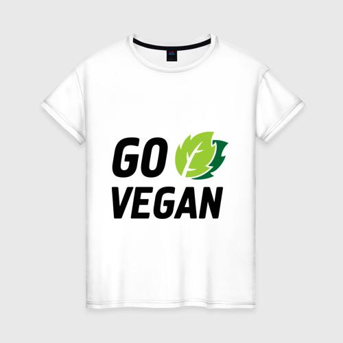 Женская футболка хлопок Go vegan