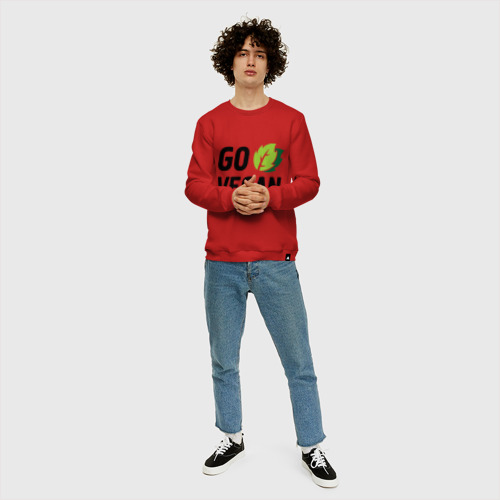 Мужской свитшот хлопок Go vegan Фото 01