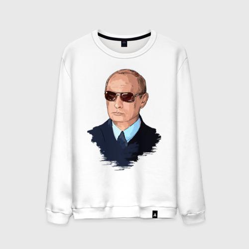 Мужской свитшот хлопок  Фото 01, Путин в очках