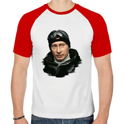 Мужская футболка реглан  Фото 01, Путин лыжник