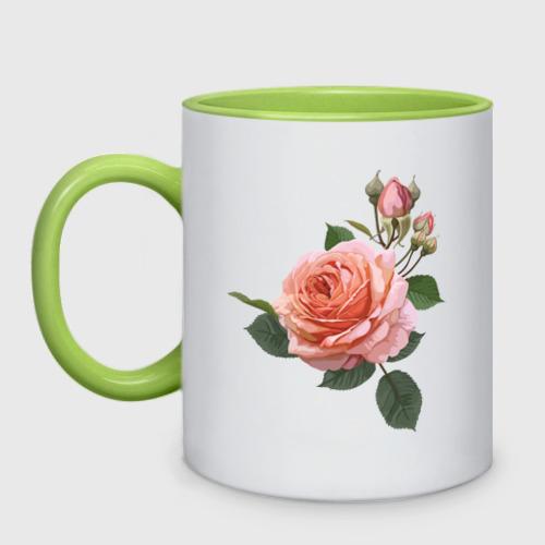 Кружка двухцветная Розовая роза Фото 01