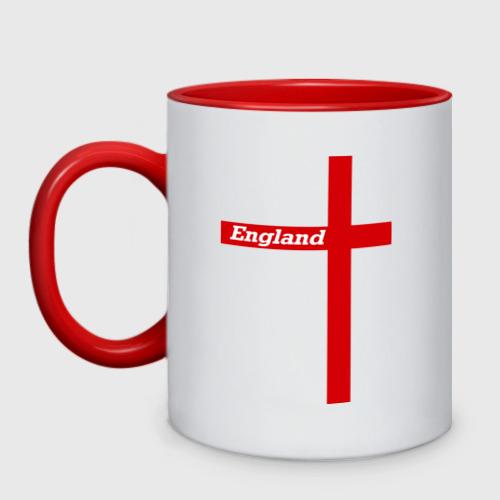 Кружка двухцветная Сборная Англии