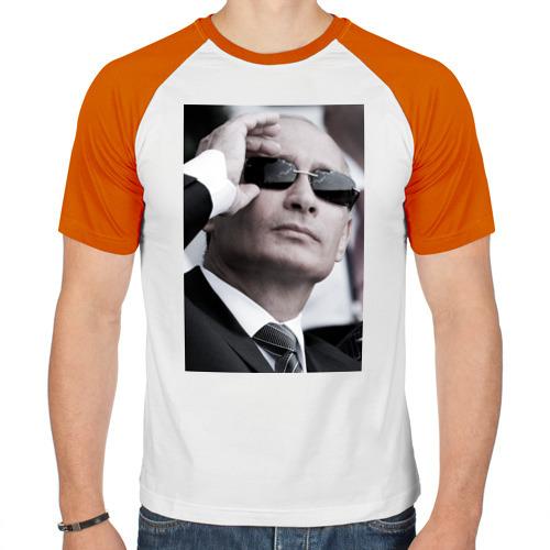 Мужская футболка реглан  Фото 01, Путин в очках