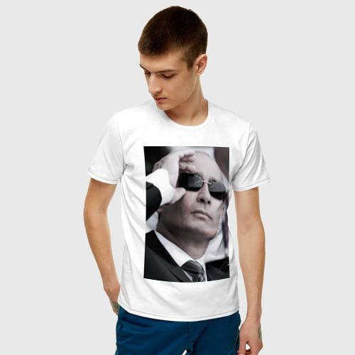 Мужская футболка хлопок Путин в очках Фото 01