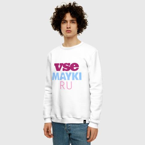 Мужской свитшот хлопок Vsemayki logo Фото 01