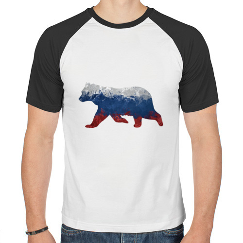Мужская футболка реглан  Фото 01, Русский медведь
