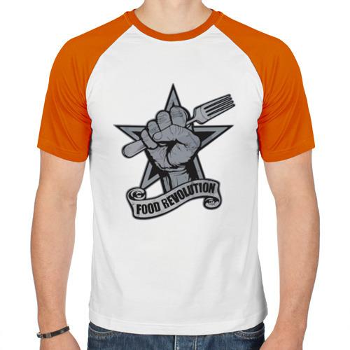 Мужская футболка реглан  Фото 01, Революция пищи