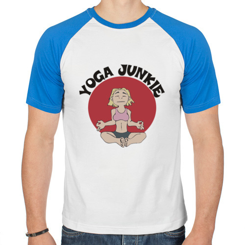 Мужская футболка реглан  Фото 01, Йога - зависимость