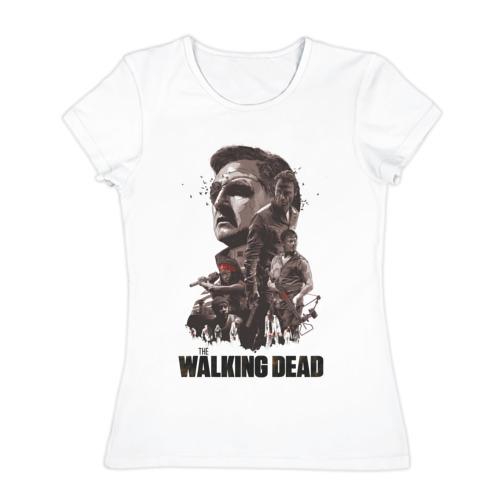 Женская футболка хлопок Ходячие Мертвецы