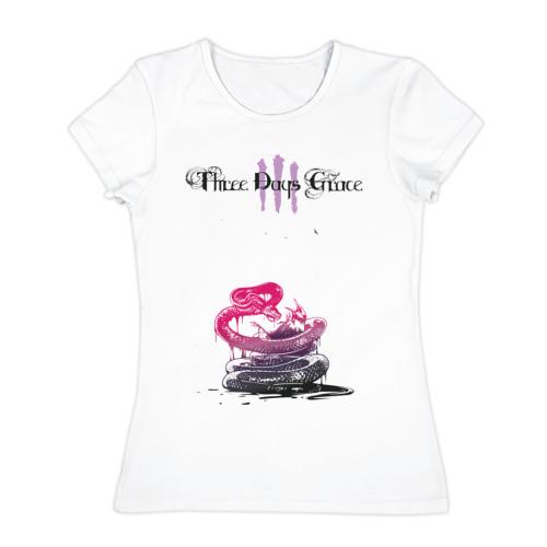 Женская футболка хлопок  Фото 01, three days grace