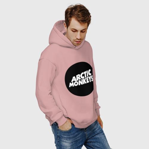 Мужское худи Oversize хлопок Arctic Monkeys Round Фото 01