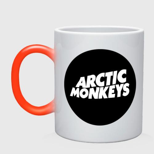 Кружка хамелеон Arctic Monkeys Round