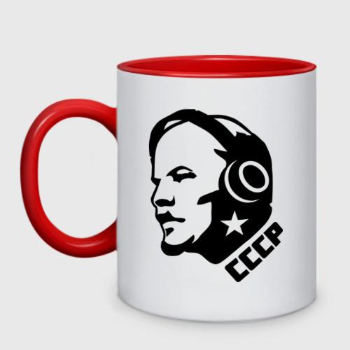 Кружка двухцветная Ленин музыка СССР