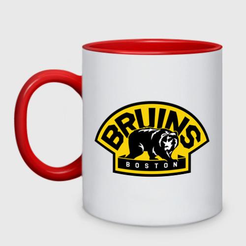 Кружка двухцветная HC Boston Bruins Label