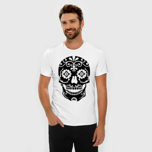 Мужская футболка премиум  Фото 03, Расписной череп