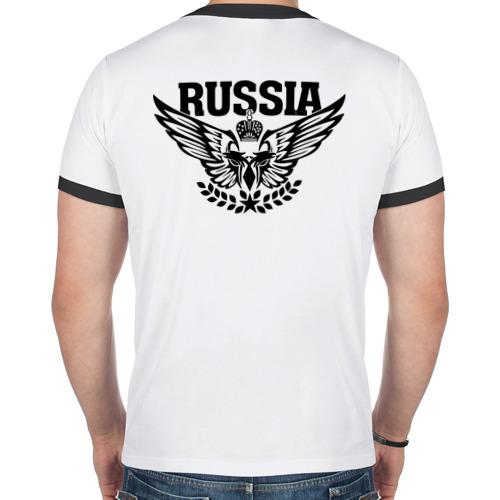 "Мужская футболка-рингер ""Russia"" - 1"