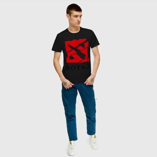 Мужская футболка хлопок Dota 2 стекло Фото 01