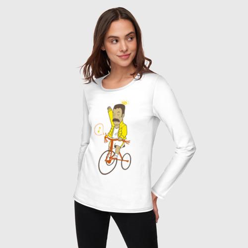 Женский лонгслив хлопок  Фото 03, Фредди на велосипеде