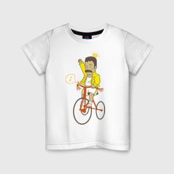 Фредди на велосипеде