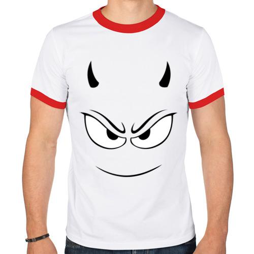 Мужская футболка рингер  Фото 01, Чертёнок