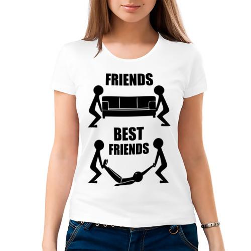 Женская футболка хлопок  Фото 03, Best friends