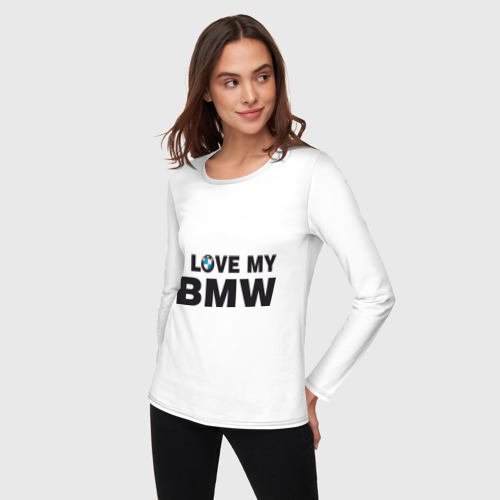Женский лонгслив хлопок  Фото 03, I love my BMW