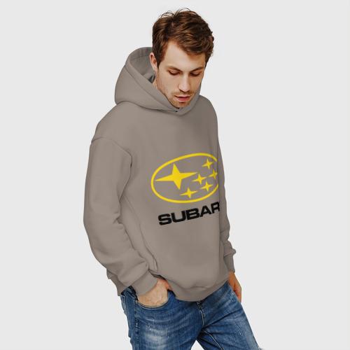 Мужское худи Oversize хлопок Subaru Logo Фото 01