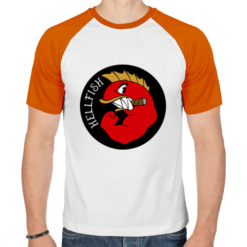 Мужская футболка реглан  Фото 01, Hellfish