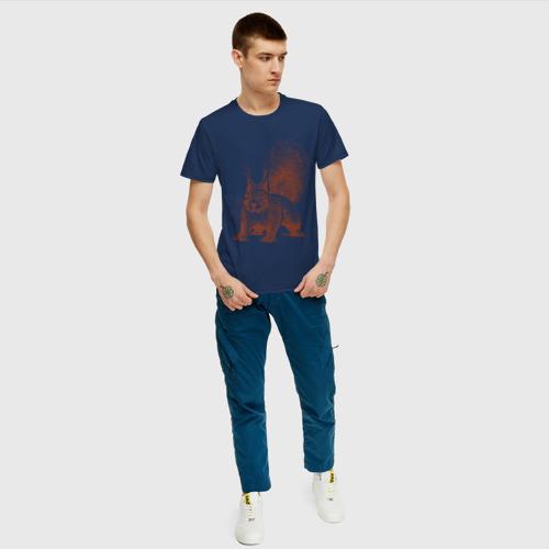 Мужская футболка хлопок Самая милая белочка Фото 01