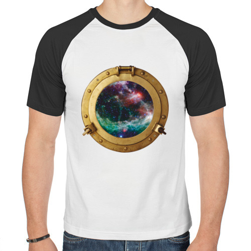 Мужская футболка реглан  Фото 01, Иллюминатор в космос