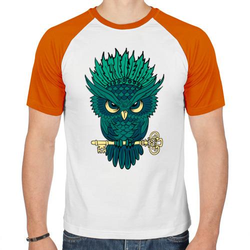 Мужская футболка реглан  Фото 01, Сова с ключом