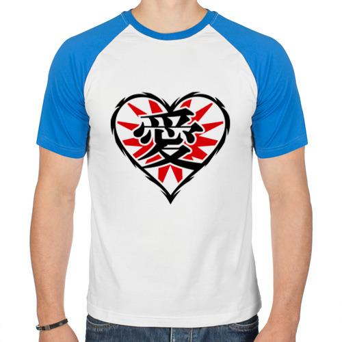 Мужская футболка реглан  Фото 01, Кандзи иероглиф Любовь