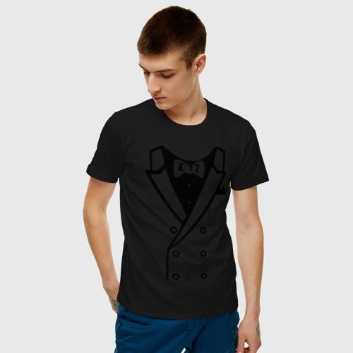 Мужская футболка хлопок Двубортный пиджак Фото 01