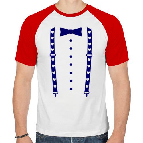 Мужская футболка реглан  Фото 01, Подтяжки с сердцами
