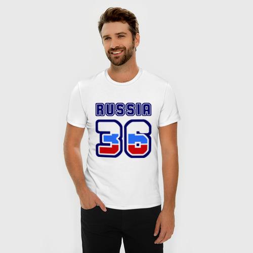 Мужская футболка премиум Russia - 36 (Воронежская область) Фото 01
