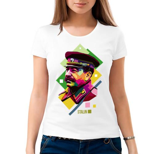 Женская футболка хлопок  Фото 03, Сталин
