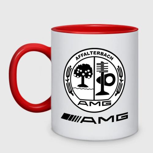 Кружка двухцветная AMG
