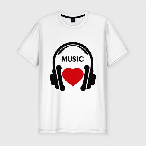 Мужская футболка премиум  Фото 01, Люблю музыку