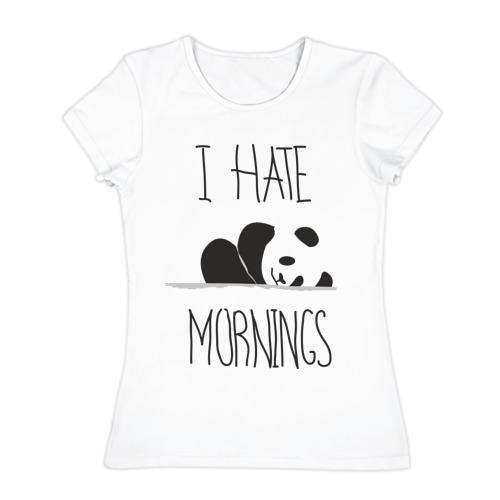 Женская футболка хлопок Ненавижу утро!