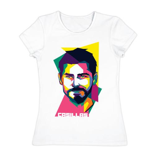 Женская футболка хлопок Икер Касильяс