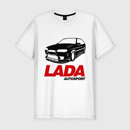 Мужская футболка хлопок Slim LADA Autosport Фото 01