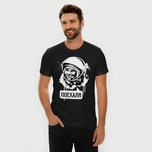 Мужская футболка премиум Гагарин. Поехали Фото 01