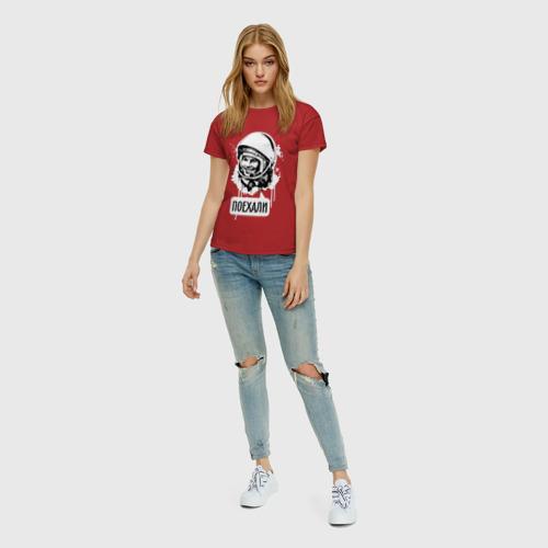 Женская футболка хлопок Гагарин. Поехали Фото 01