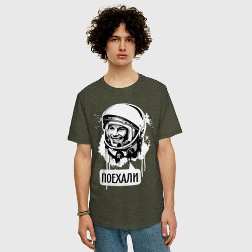 Мужская футболка хлопок Oversize Гагарин. Поехали Фото 01