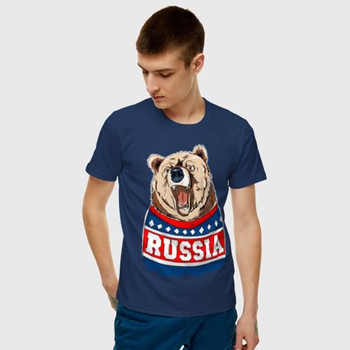 Мужская футболка хлопок Медведь made in Russia Фото 01