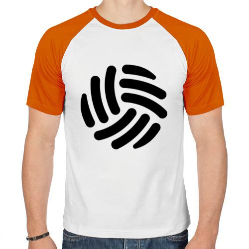Мужская футболка реглан  Фото 01, Волейбольный мячик