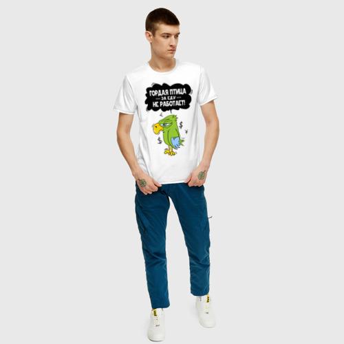 Мужская футболка хлопок Гордая птица Фото 01