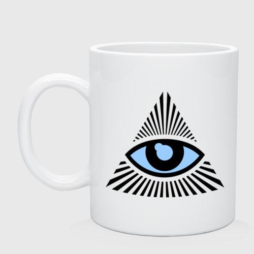 Кружка  Фото 01, Всевидящее око (глаз в треугольнике)